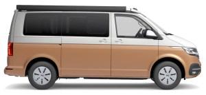 Couleur deux teintes VW Camper T6.1-Candy White Copper Bronze Métallisé