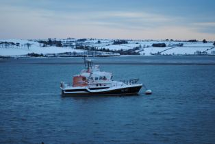 Snow in the Village and on the Lifeboat