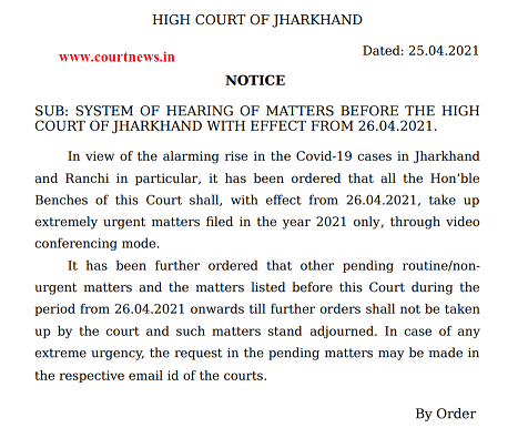Notice of Jharkhand High court