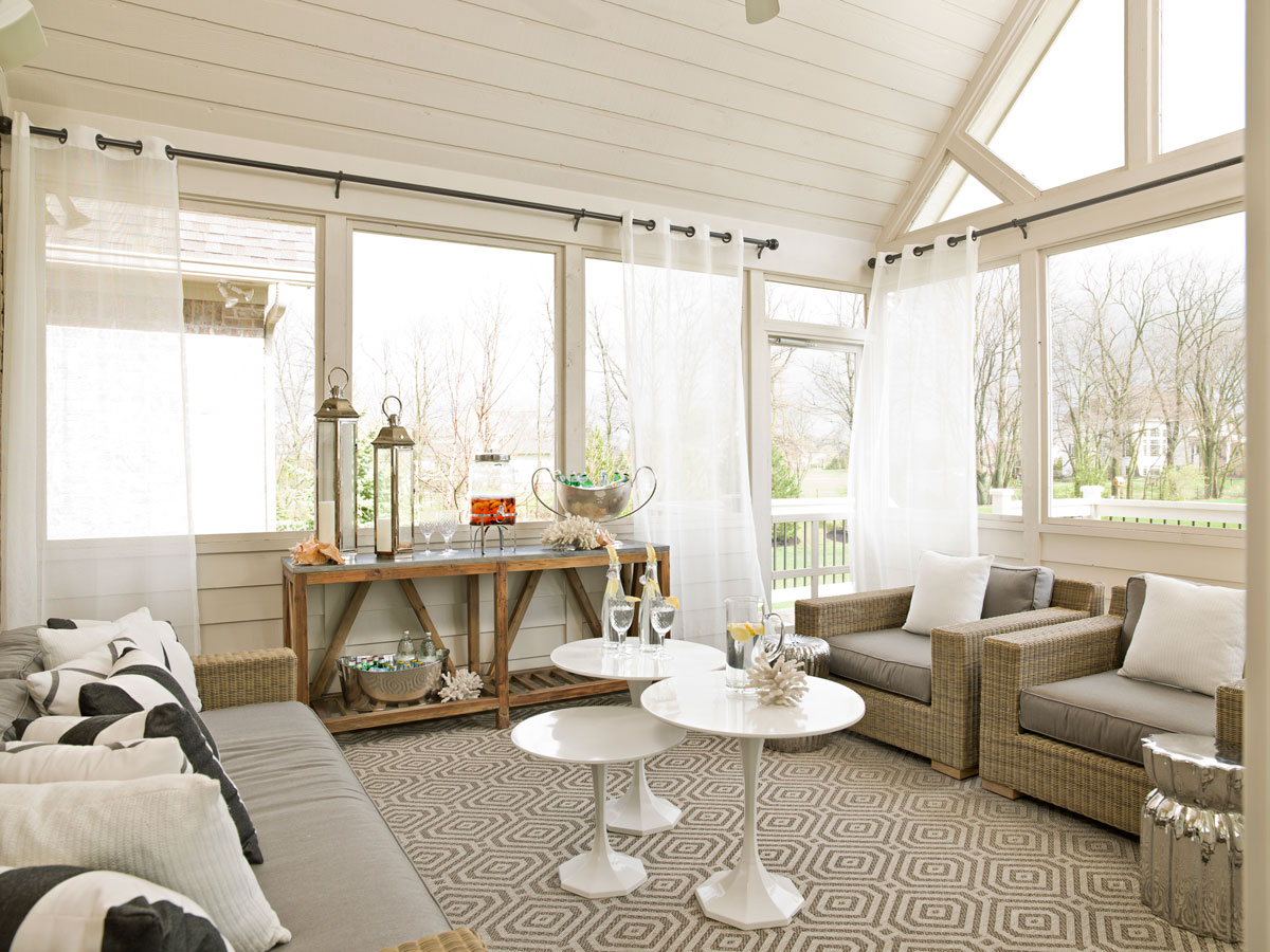 Courtney Casteel, Interior Design screened porch design