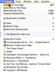 backing up your bookmarks