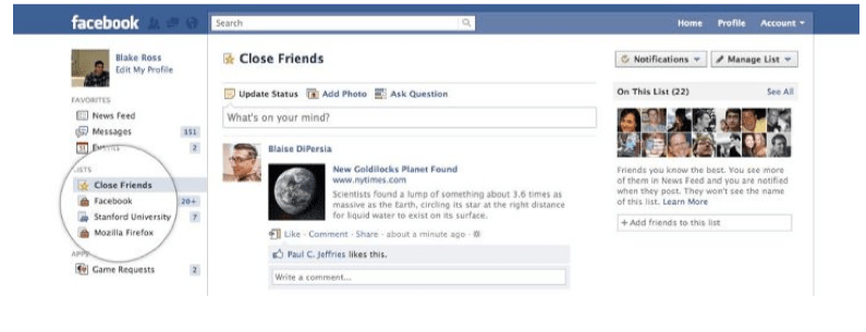 friend lists