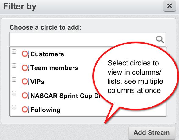 How to add Google+ Circles to Hootsuite streams