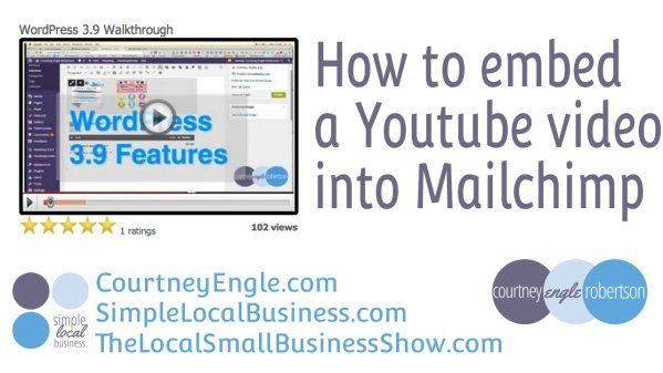 How to Embed a Youtube video in Mailchimp