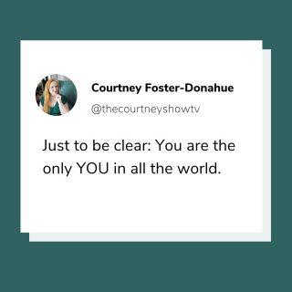😉 ... so act like it. . . . . . . . #youaretheonlyyouintheworld #beyou #qotd #mondayreminder #dailymotivation #gogetit #entrepreneurmindset