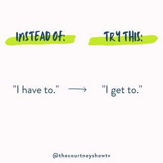 """Does this apply to all things in life? Goodness no. But it sure applies to a lot of things in business. 😉  And it's nearly always a worthwhile exercise: Try shifting your """"I have to""""s to """"I get to""""s and see what happens.  Sometimes a problem becomes a challenge... which then becomes an opportunity. ✨"""