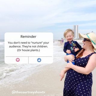Reminder: You don't need to *nurture* your audience. They're not children. Or house plants 😉 They're grown @$$ adults who have problems and want solutions. And if you sell a product or service, then you have a solution to at least one—if not a few—of their problems. Ta da! You don't have to water them + sing to them... You don't have to bottle feed them + cuddle them... You don't even need to wine + dine them... You can—get this—just... SELL to them. For real! And selling is serving anyway. Am I oversimplifying here? I mean, yeah, sure, a little bit. But real talk: This advice that keeps going around about