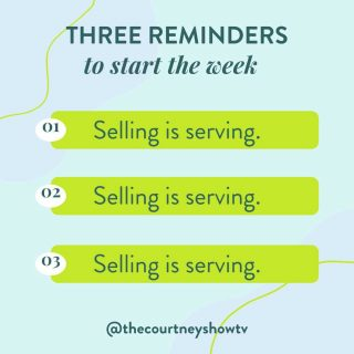 Selling is serving. After all, if your product or service is a solution to a problem (it IS, whether you train dogs, make necklaces, or help people get in shape)... Then the BEST way you can serve the people who have that problem is to share your solution with them, educate them about it, empower them to make the decision that will help them most (usually buying your product or service), and delivering that solution to them. If that's not serving, then I don't know what is! 😉 If you're already showing up and serving/selling/CTA-ing every day with your content for your audience and connections with your audience, great! Then I'm preachin' to the choir here. But if that's not you, let this week be different. Better. Don't let another week go by where you don't fully serve your audience. Care enough about them and their problems to share your solutions with them — sell to them! 💃 Selling is serving. Selling is serving. Selling is serving. P.S. Did this help you? If so, be sure to save this post and share it with your audience! P.P.S. If you sell or are wanting to sell an online course but don't know where to get started, I've got just the thing for you — my free class where I'll show you how to create and launch an online course in 4 weeks or less! Save your seat and check it out today: 👉 freecourseclass.com