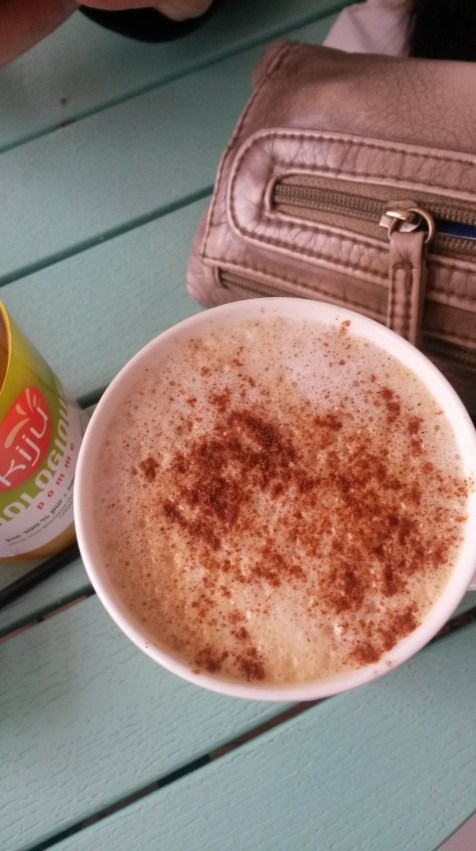 my latte with cinnamon