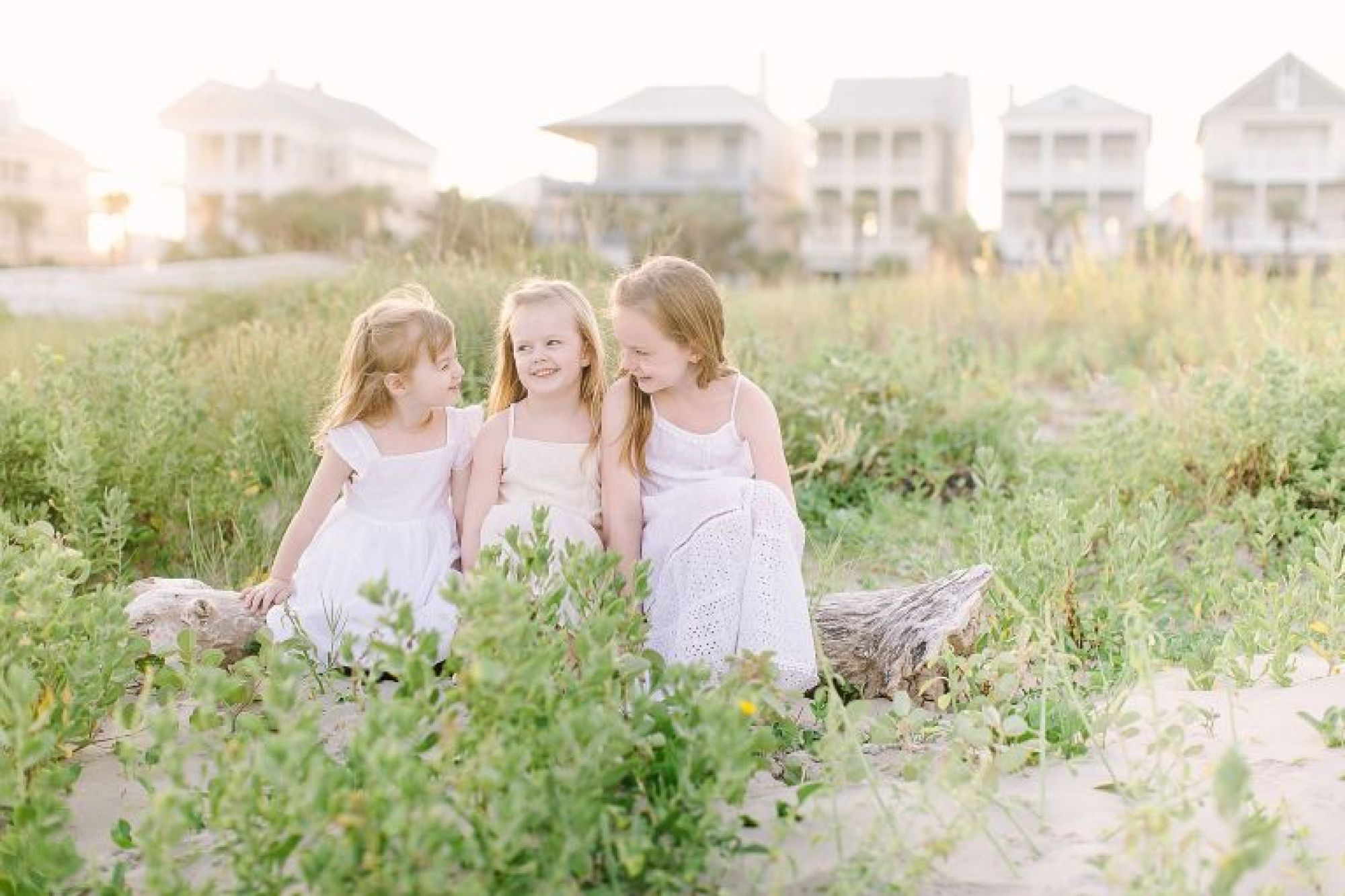 Sunset session on Galveston beach with family photographer, Courtney Griffin Photography