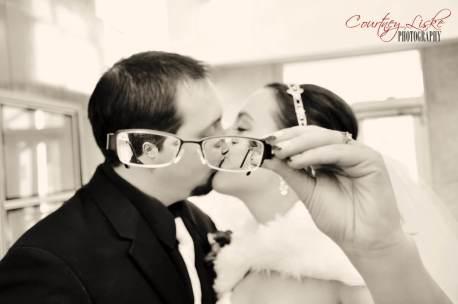Ashlee & Matt - Through glasses - Regina Wedding Photography