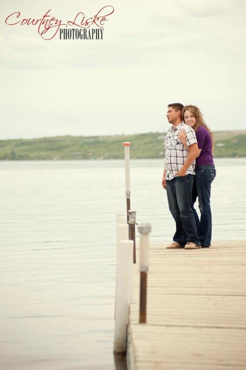 Regina Engagement Photography - Pam & Grant - Dock