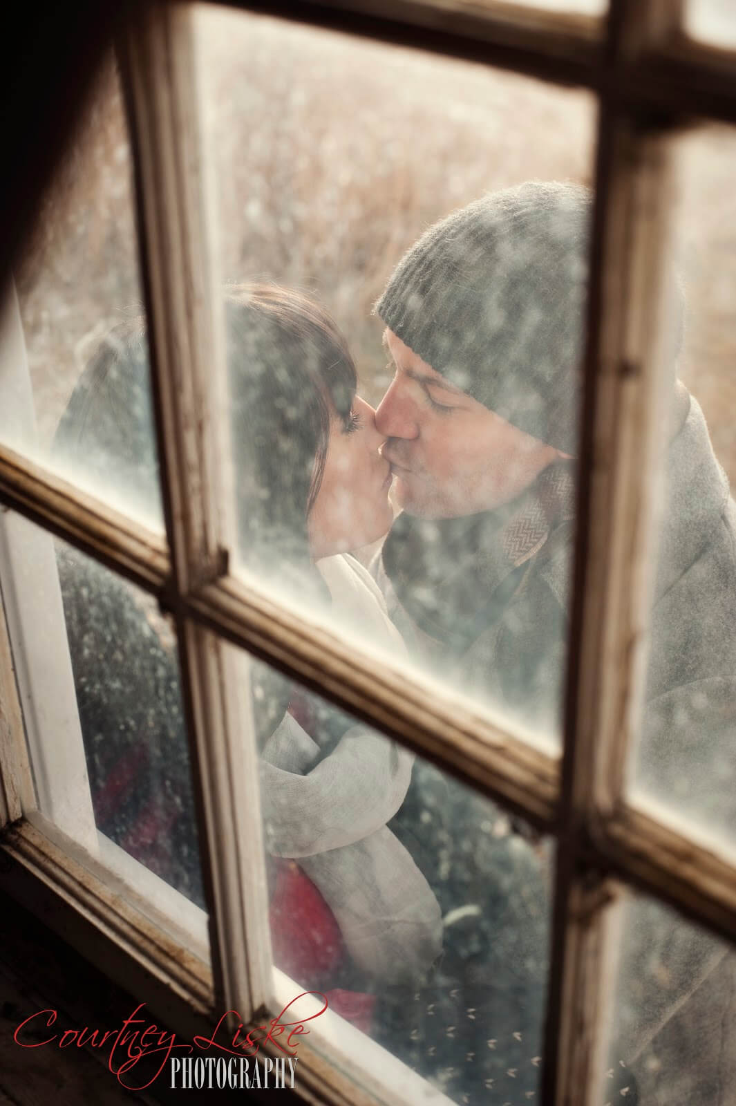 Regina Wedding Photographer - Andrew & Alicia - Barn Window Kiss
