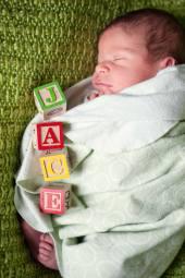 Regina Family Photographer - Jace Newborn - Favel Family - Letter Blocks