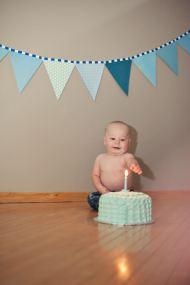 Regina Family Photographer - Astrope Family - 1 Year Birthday - Cake Smash Candle
