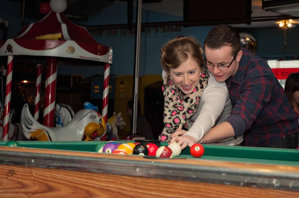 Regina Engagement Photographer - Brian & Jacey - Billiards