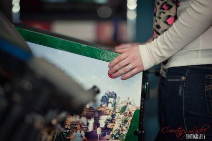 Regina Engagement Photographer - Brian & Jacey - Pinball Machine Ring