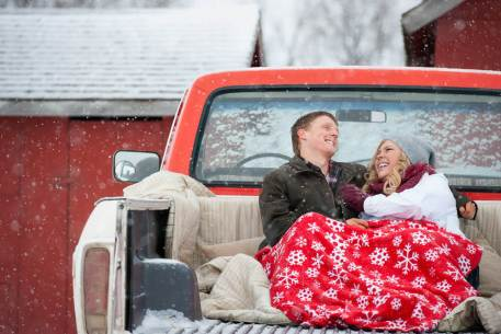 Regina Engagement Photographer - Stephen & Sara - Back of Truck