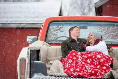 Regina Engagement Photographer - Stephen & Sara - Back of Truck