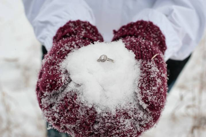 Regina Engagement Photographer - Stephen & Sara - Ring in the Snow