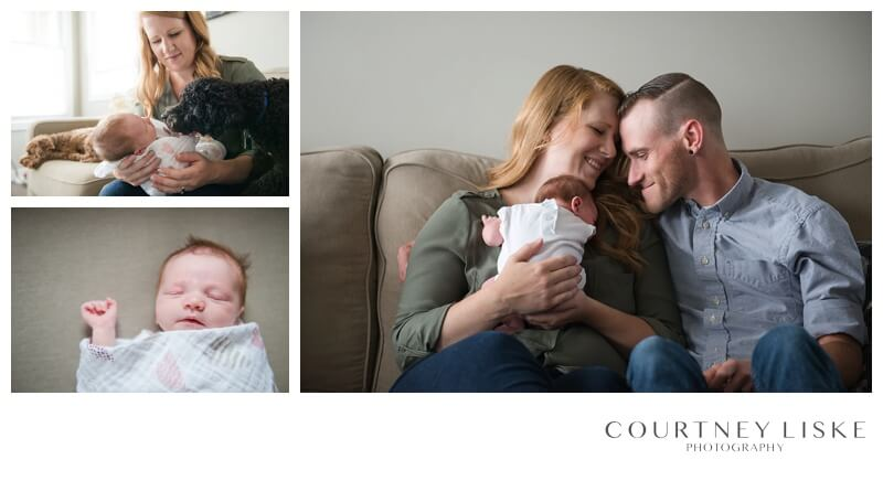 Avonlea Newborn - Courtney Liske Photography - Regina Family Photographer - In home session