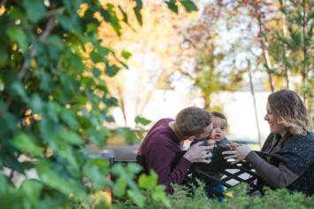 Courtney Liske Photography - Regina Family Photographer - Jaarsma Family - Family Park Bench