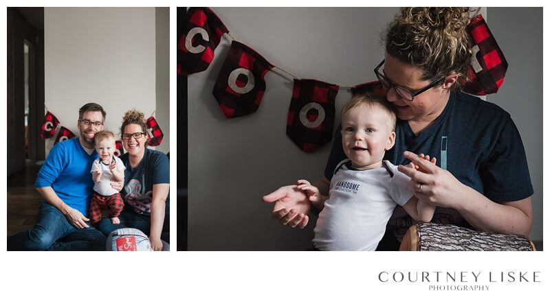 Cooper is One - Courtney Liske Photography - Regina Family Photographer - Lumberjack
