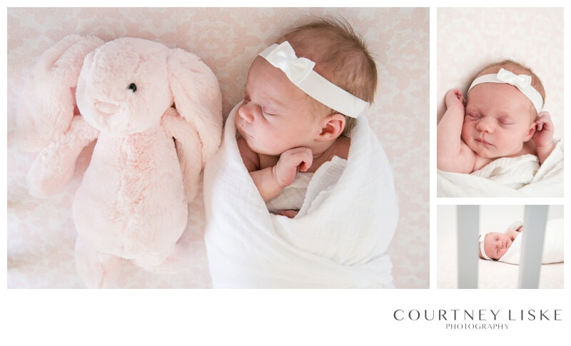 Brenna Newborn - Courtney Liske Photography - Regina Family Photographer - Pink Bunny
