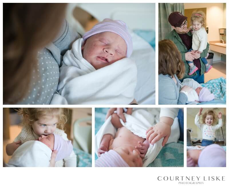 Oliver Newborn - Courtney Liske Photography - Regina Family Photographer - In hospital newborn session