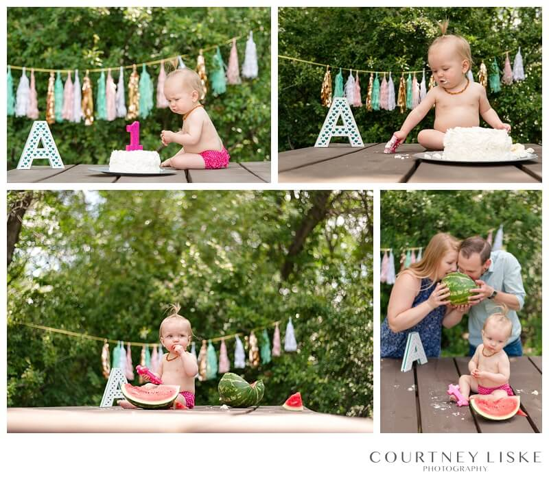 Avonlea is One - Courtney Liske Photography - Regina Family Photographer - Watermelon Smash