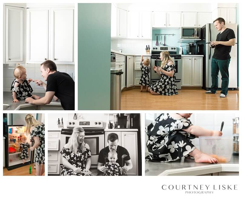Hlushko Family - Courtney Liske Photography - Regina Family Photographer - In home session - Kitchen