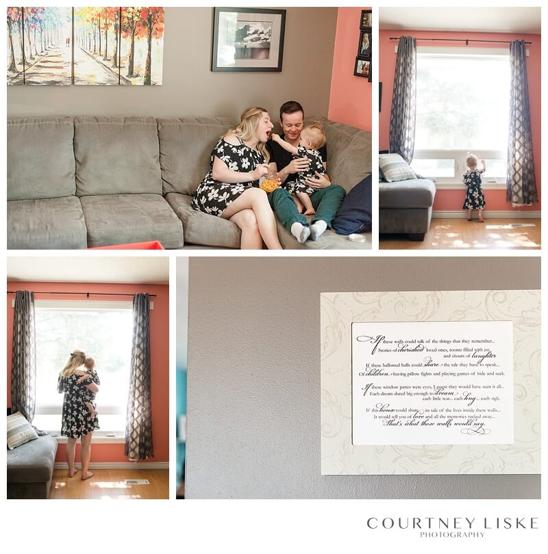 Hlushko Family - Courtney Liske Photography - Regina Family Photographer - In home session - Living Room