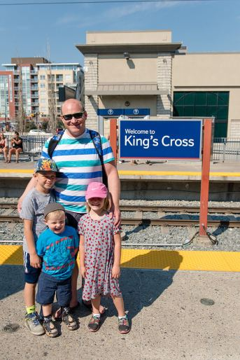 Arriving at Kings Cross station in Kensington