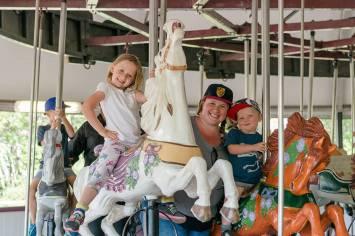 Carousel rides at Calaway Park