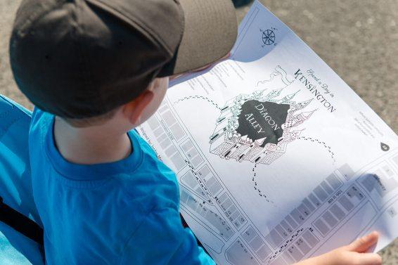 Diagon Alley map in Kensington