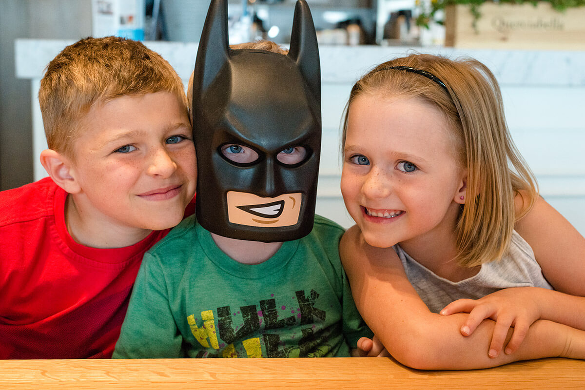 Lego Batman and friends at Double Zero Pizza in Chinook Centre