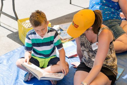 Reading with Dr Seuss in the Park Riley Park