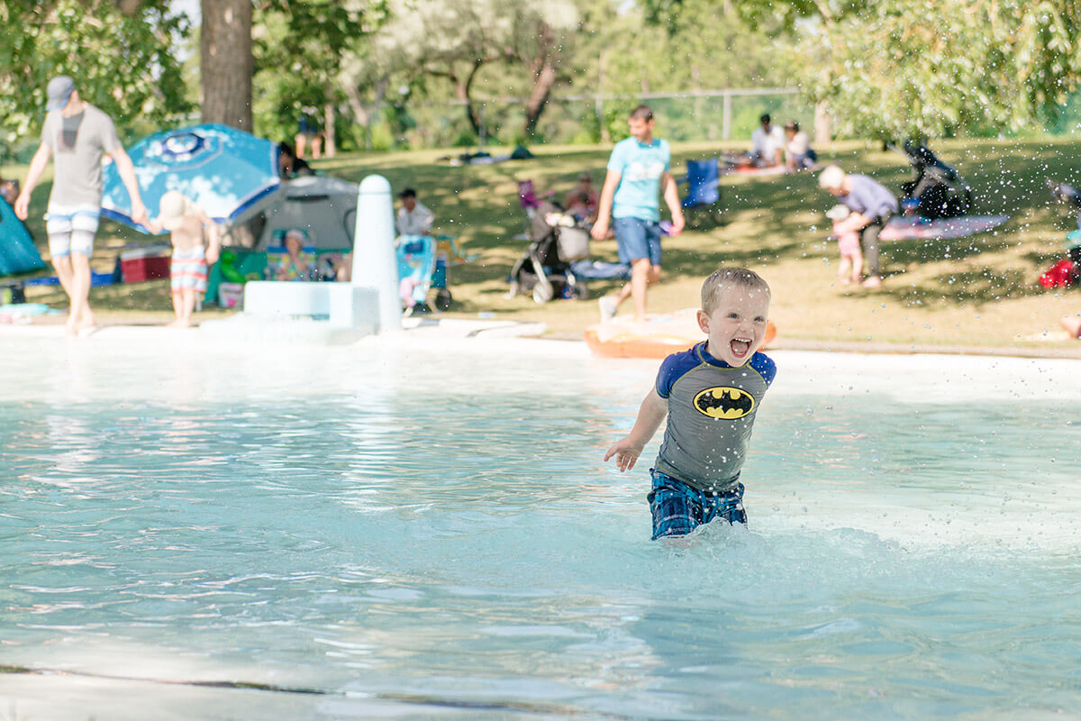 Riley Park wading pool in Calgary