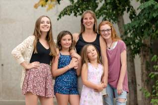 Mother and four daughters