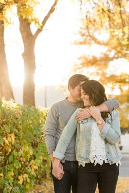 Couple in alley during the fall