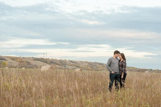 Couple in field in Lumsden Valley