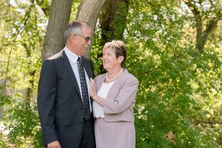 Grandma and grandpa in Regina Wascana Park
