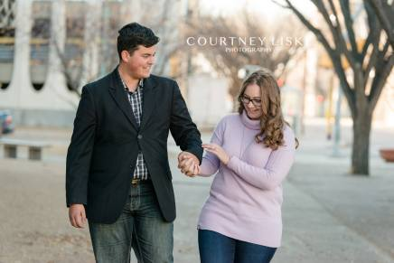 Luke & Tori downtown Regina Engagment