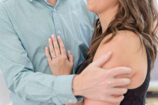 Beautiful engagement ring at Regina engagement session