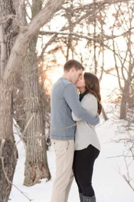 Winter engagement session in Regina SK