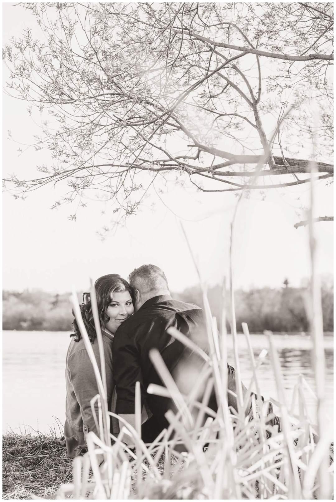 Regina Engagement Photographer - Scott-Ashley - Regina Rowing Club - Through tall grass