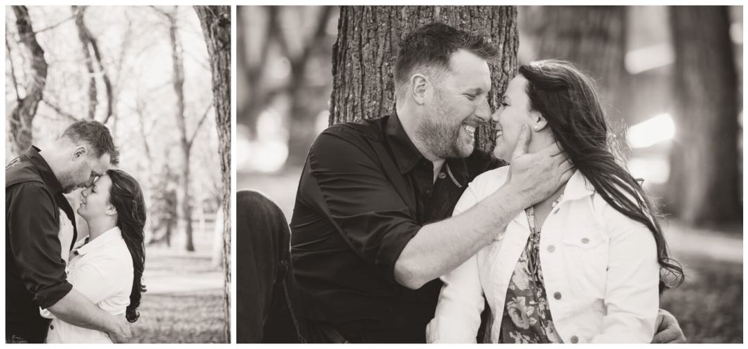 Travis & Coralynn Regina Engagement Session- Engaged couple in Wascana Park
