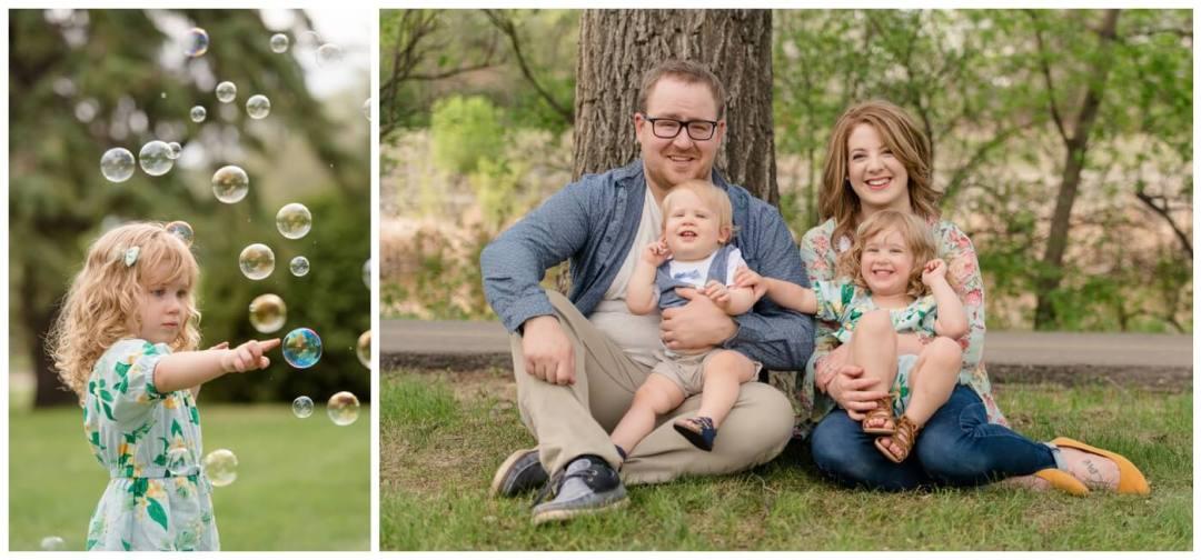 Regina Family Photographer - Selinger-Family - Rotary Park - Bubbles