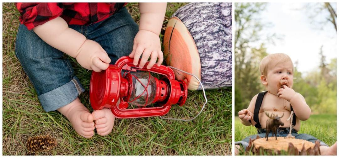 Regina Family Photography - Oliver - Lumberjack Cake Smash- Rotary Park