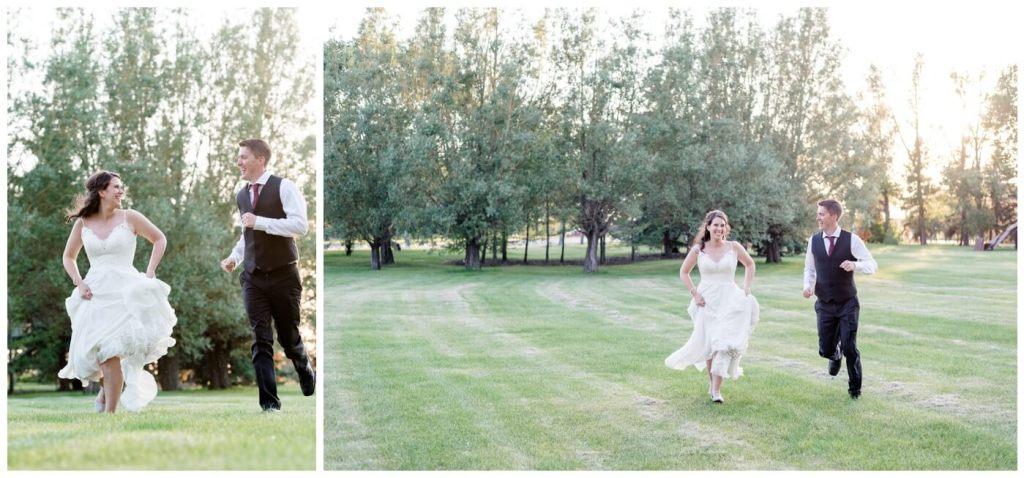 Regina Wedding Photography - Cory-Kelsey - Running through Wascana Park